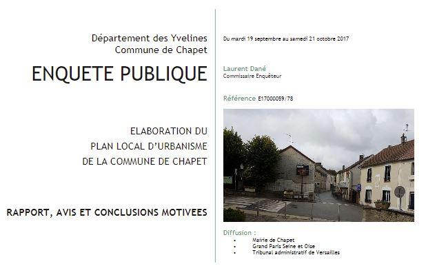 Rapport PLU 2017